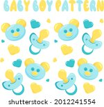 vector baby pattern with...   Shutterstock .eps vector #2012241554