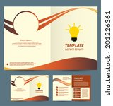 brochure template design | Shutterstock .eps vector #201226361