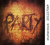 Party Music Word  Old Brick...