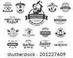 15 vintage style labels for... | Shutterstock .eps vector #201227609