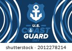 u.s. coast guard day in united...   Shutterstock .eps vector #2012278214