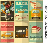 back to school posters... | Shutterstock .eps vector #201228401
