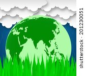 word global showing globe... | Shutterstock . vector #201230051