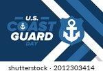 u.s. coast guard day in united...   Shutterstock .eps vector #2012303414