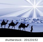 The Three Wise Men  Vector...