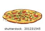 food  illustration  tasty hot... | Shutterstock . vector #201231545