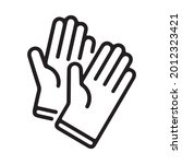 gloves vector icon. isolated... | Shutterstock .eps vector #2012323421