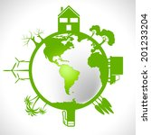 eco global meaning earth... | Shutterstock . vector #201233204