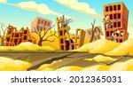 destroyed buildings after... | Shutterstock .eps vector #2012365031