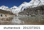 Nepalese Mountains And Icey...