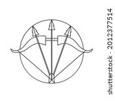 isolated sagittarius symbol... | Shutterstock .eps vector #2012377514