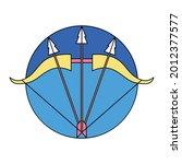 isolated sagittarius symbol... | Shutterstock .eps vector #2012377577