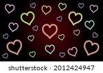 neon lights pattern with glow... | Shutterstock .eps vector #2012424947