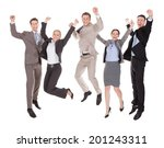 full length of excited young... | Shutterstock . vector #201243311