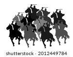 knight in armor with sword and... | Shutterstock .eps vector #2012449784