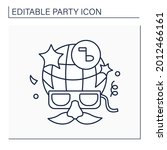 costume party line icon. fancy... | Shutterstock .eps vector #2012466161