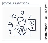 entertainer line icon. person...   Shutterstock .eps vector #2012466194