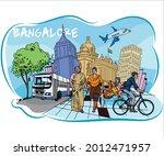 bangalore city scape  city... | Shutterstock .eps vector #2012471957