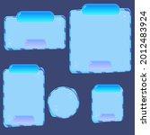 game ui buttons set blue sea...