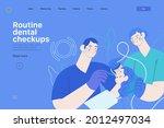 routine dental checkups  ... | Shutterstock .eps vector #2012497034