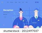 hospital reception   medical...   Shutterstock .eps vector #2012497037