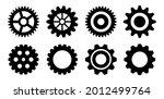 clockwork gears vector icon set   Shutterstock .eps vector #2012499764