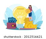 concept of financial...   Shutterstock .eps vector #2012516621