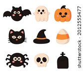 happy halloween cartoon simple...   Shutterstock .eps vector #2012555477