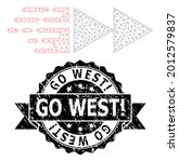 go west exclamation rubber seal ... | Shutterstock .eps vector #2012579837