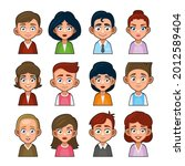 cute young peoples avatar...   Shutterstock .eps vector #2012589404