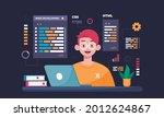 software engineer concept. web...   Shutterstock .eps vector #2012624867