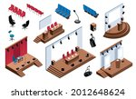 isometric conference hall stage ...   Shutterstock .eps vector #2012648624