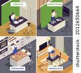 popular video bloggers 4... | Shutterstock .eps vector #2012650664