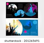 brochure layout design template  | Shutterstock .eps vector #201265691