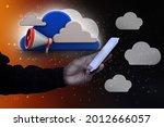 3d rendering megaphones with... | Shutterstock . vector #2012666057