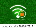 2d illustration wifi symbol... | Shutterstock . vector #2012667917