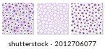 cute set of seamless pattern... | Shutterstock .eps vector #2012706077