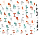 furniture seamless pattern | Shutterstock .eps vector #201272909