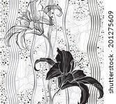 monochrome seamless pattern...   Shutterstock .eps vector #201275609