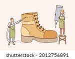 shoemaker and designing...   Shutterstock .eps vector #2012756891