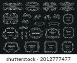 calligraphic design elements .... | Shutterstock .eps vector #2012777477