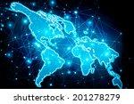 best internet concept of global ... | Shutterstock . vector #201278279