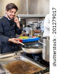 professional cook or chef in... | Shutterstock . vector #201279017