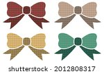 bow tie with plaid pattern... | Shutterstock .eps vector #2012808317