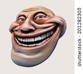Trollface. Laughing Internet...