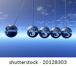 Newton Cradle Pendulums With...