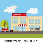 shopping design over landscape... | Shutterstock .eps vector #201283421