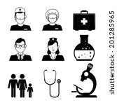 medical design over white... | Shutterstock .eps vector #201285965