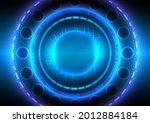 futuristic sci fi glowing hud...