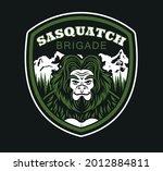 sasquatch brigade label. t... | Shutterstock .eps vector #2012884811